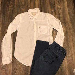 Hollister soft brushed cotton button down shirt